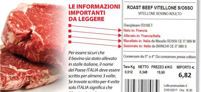 etichettatura carne